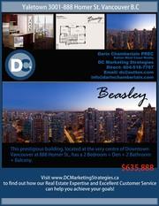 Living in Yaletown! Brand- new condo,   2 bedroom+ 2 bathroom+den