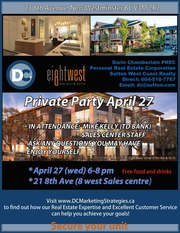 Brand-new,  no HST,  5% down,  private party April 27